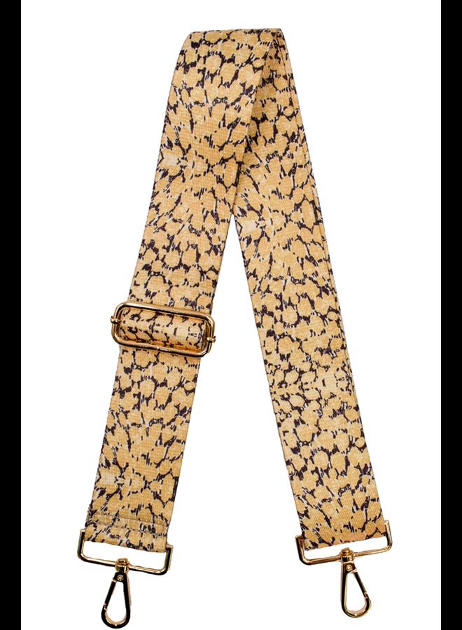 Ahdorned Purse Strap Yellow Cheeta