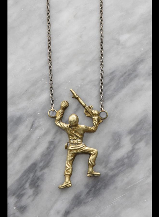 Toy Story Brass Army Crawler Necklace