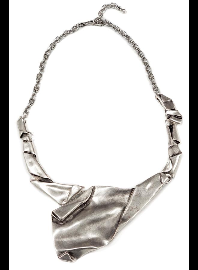 Folded Pewter Necklace