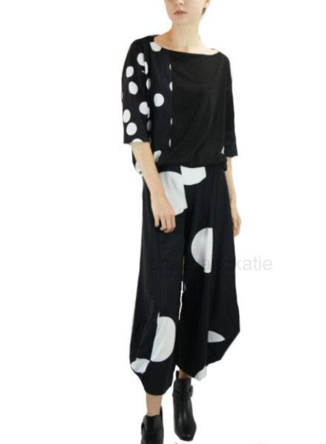 Alembika's Mixed Top In Black & White