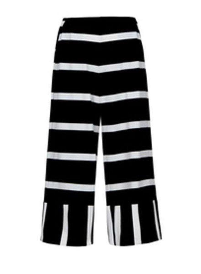Alembika's Black & White Stripe Pant