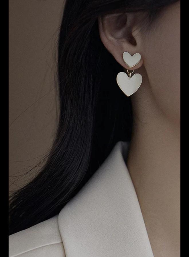 Peeking Heart Earrings