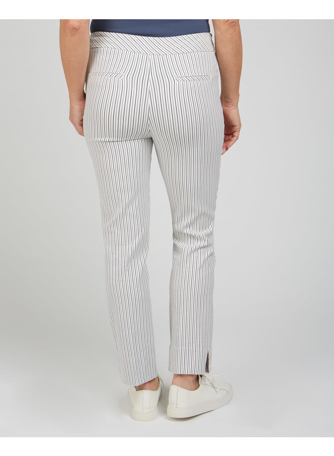 Renuar's Subtle Stripe Navy Pull-On Pants