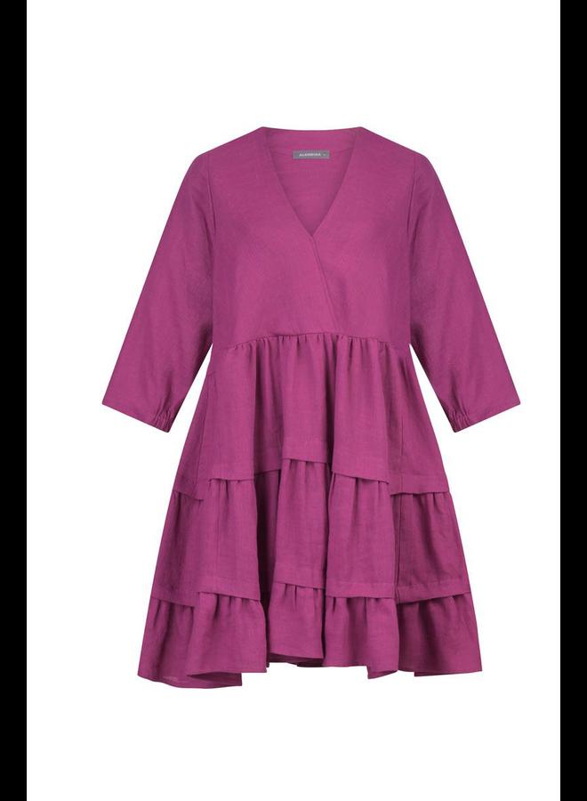 Alembika Linen Ruffled Dress