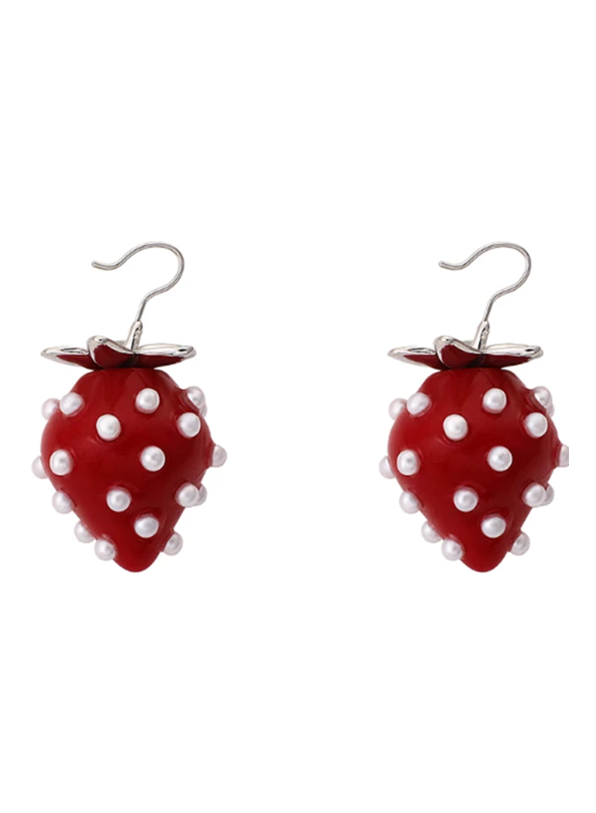 Full Summer Strawberry Earrings