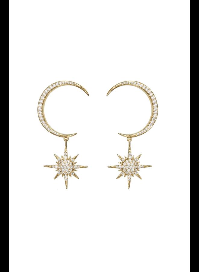Little Moon & Star Earrings