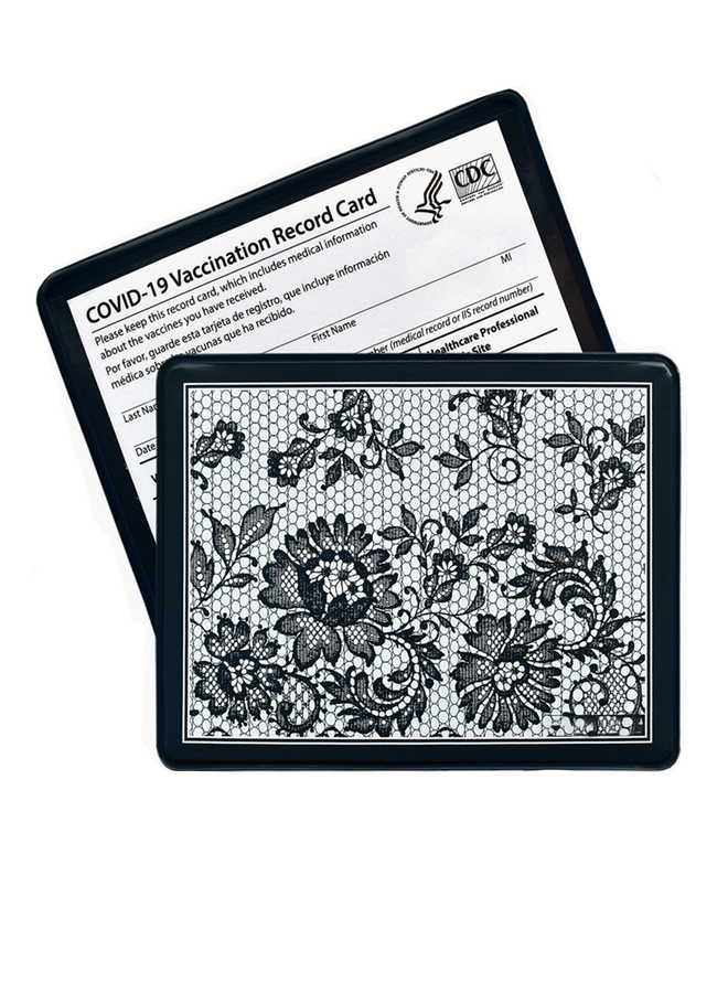 Vaccination French Lace Card Holder