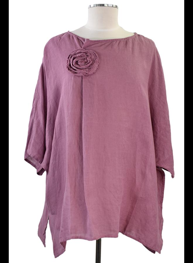 Cheyenne Linen Rose Top