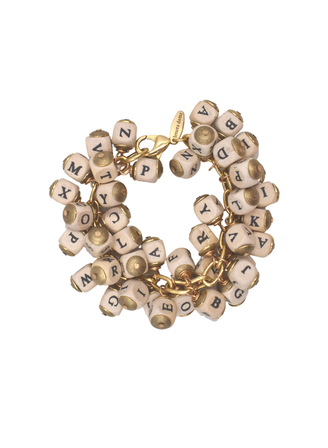 Lenora Dame Alphabet Bracelet