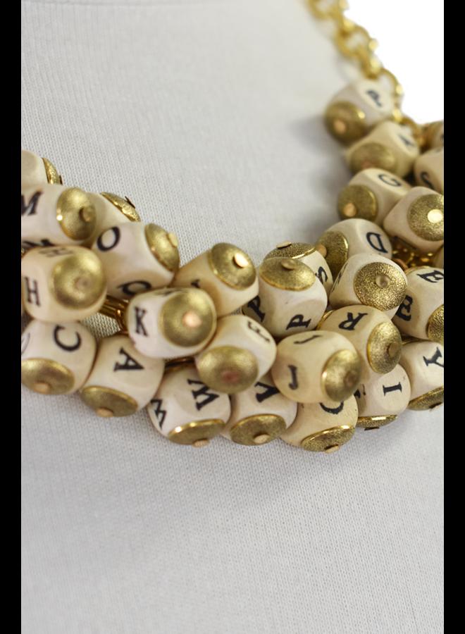 Lenora Dame Alphabet Necklace