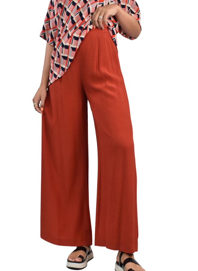 Traffic People Kiss Me Softly Trousers In Rusty Red