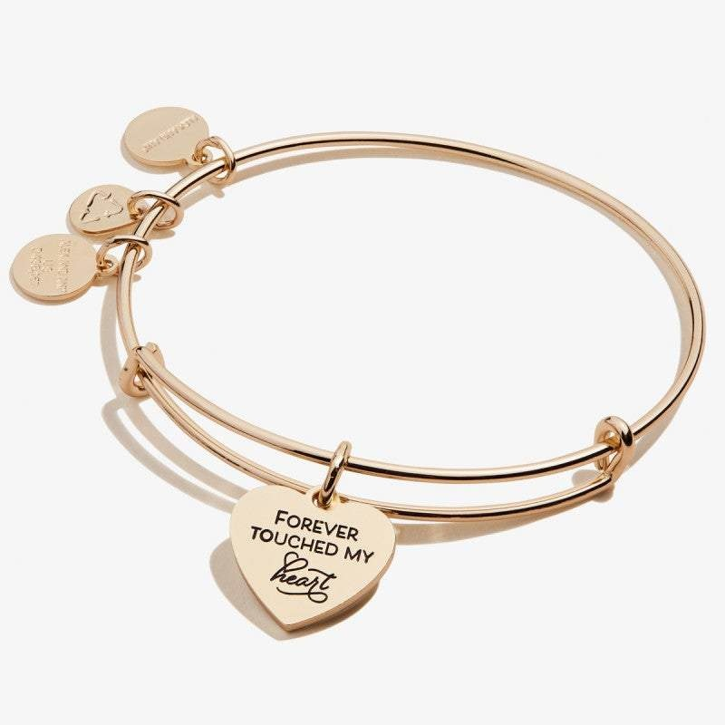 Forever Touched My Heart Gold Bangle