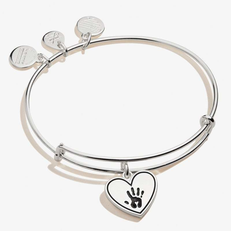 Forever Touched My Heart Silver Bangle
