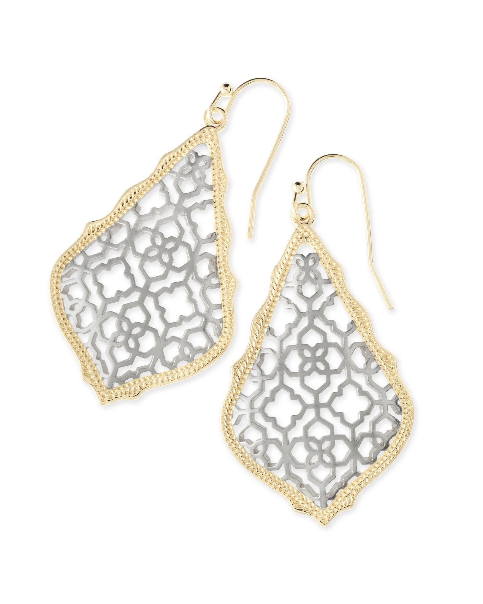 Addie Earring Gold/Rhodium Mix