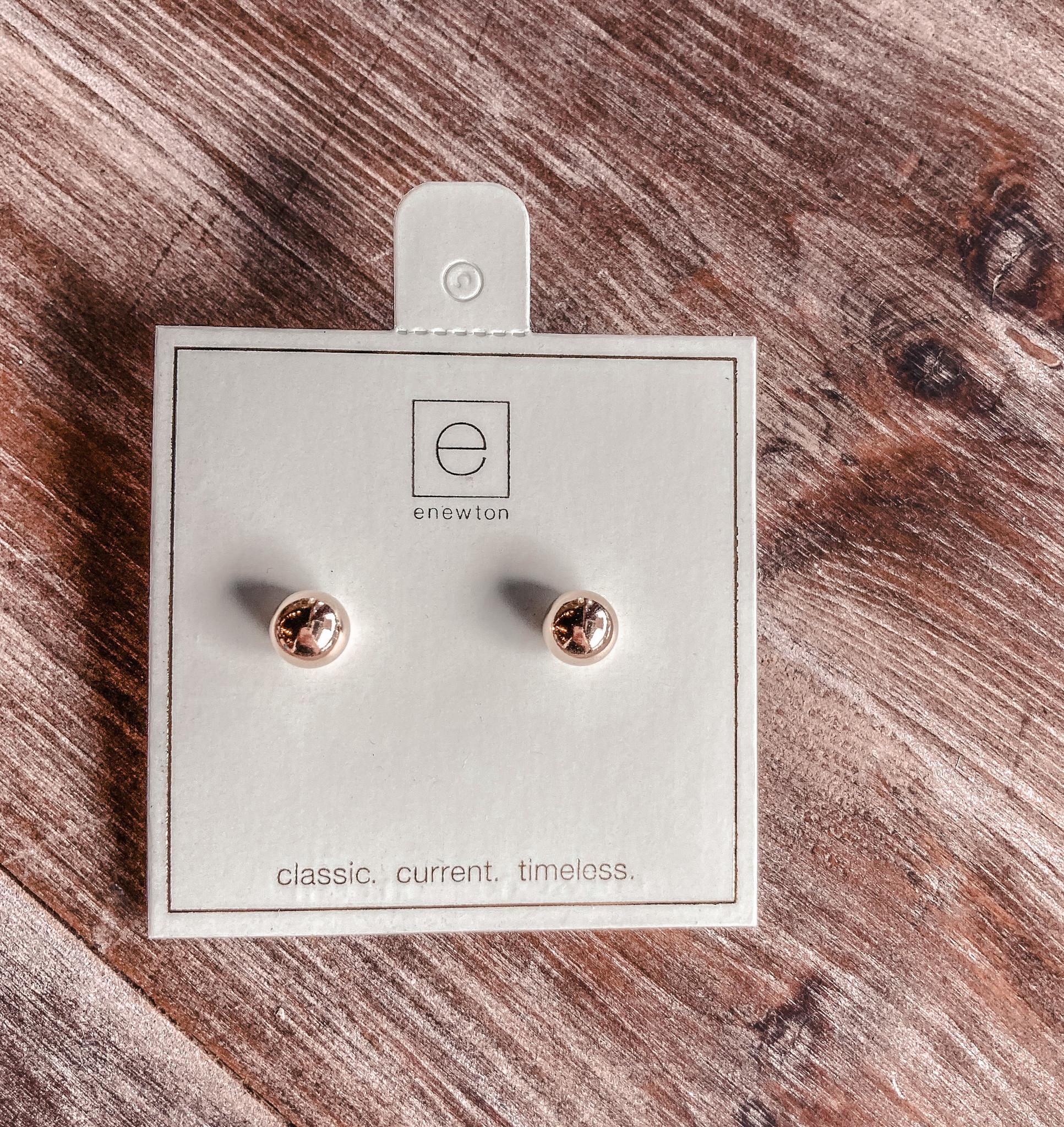 Classic 8mm Ball Stud Earring