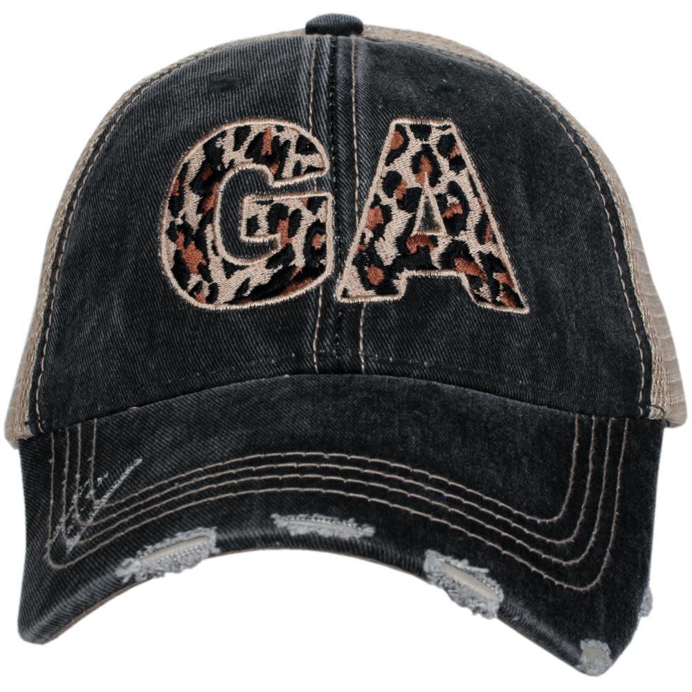 Hat, Mesh Back: GA Leopard