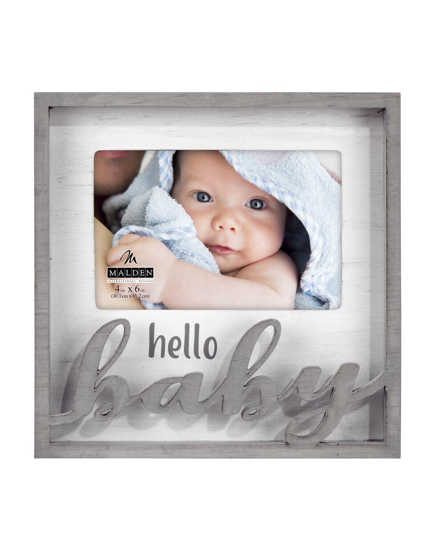 Hello Baby Laser Cutout Frame