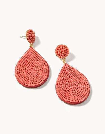 Beaded Petal Earrings