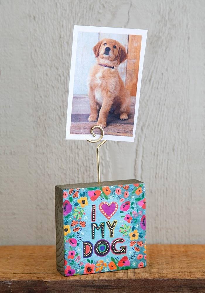I Love My Dog Mini Photo Holder
