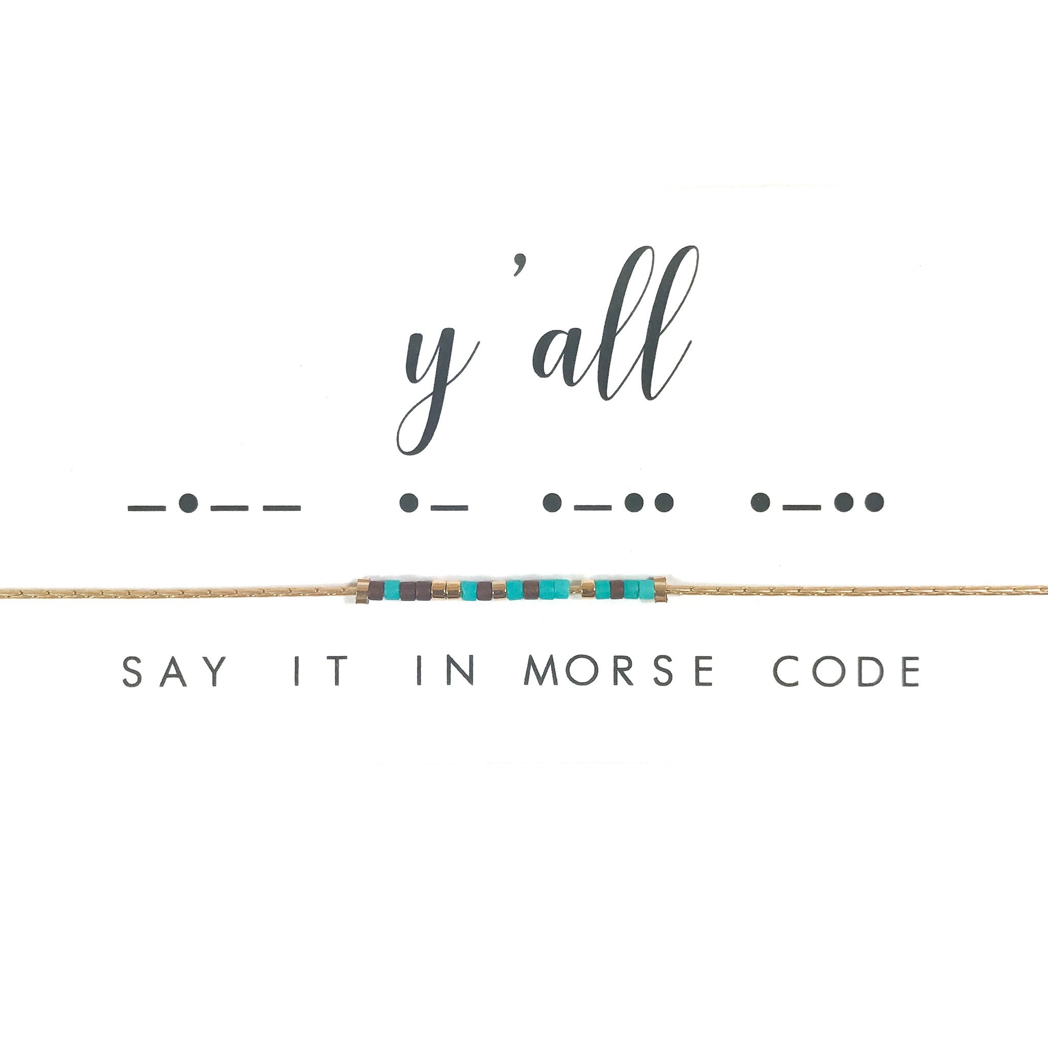 Y'all Morse Code Necklace