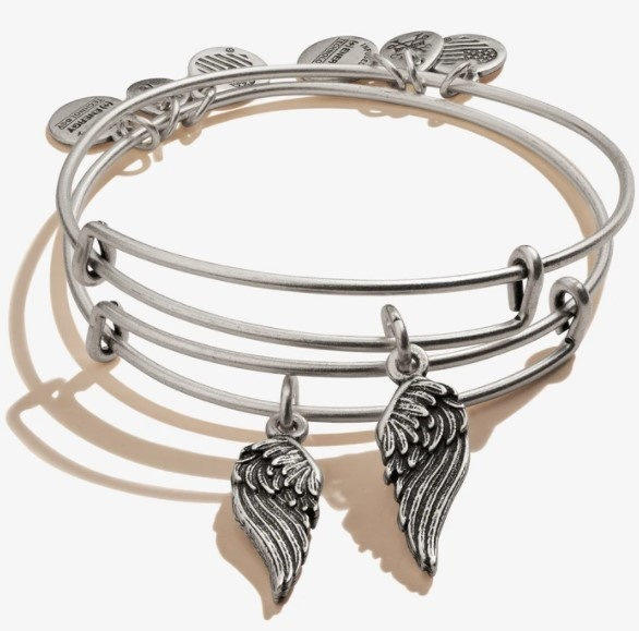 Wings S/2 Bangle Silver