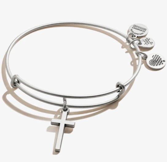 Cross Bangle Silver