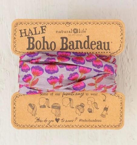 Purple & Pink Tulip Half Boho Bandeau