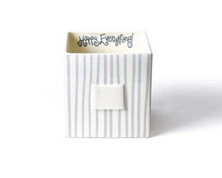 Happy Everything Stone Stripe Medium Nesting Cube