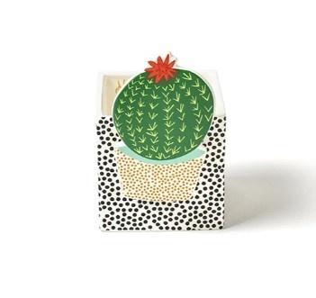 Happy Everything Black Dot Small Nesting Cube