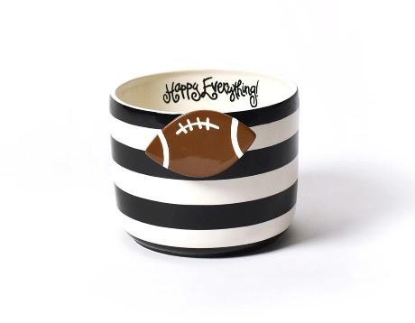 Happy Everything Black Stripe Mini Bowl