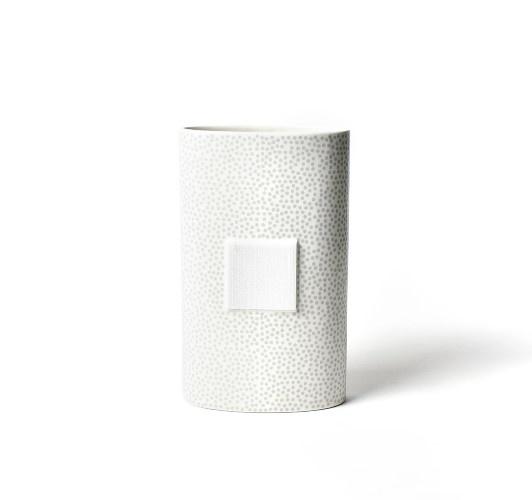 Happy Everything Stone Dot Big Oval Vase