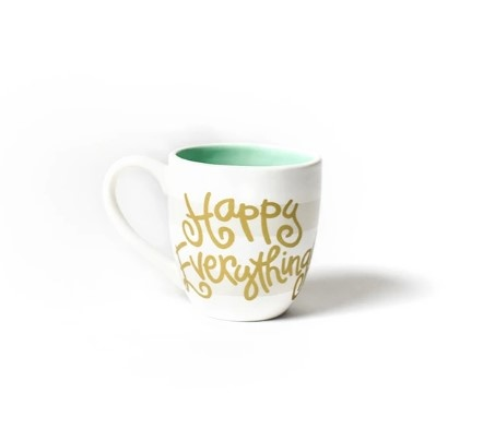 Happy Everything White Stripe Happy Everything Mug