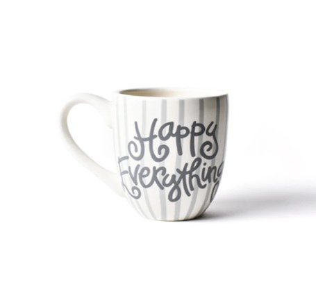 Happy Everything Stone Stripe Happy Everything Mug