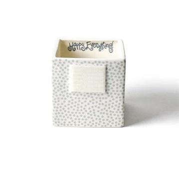 Happy Everything Stone Dot Small Nesting Cube