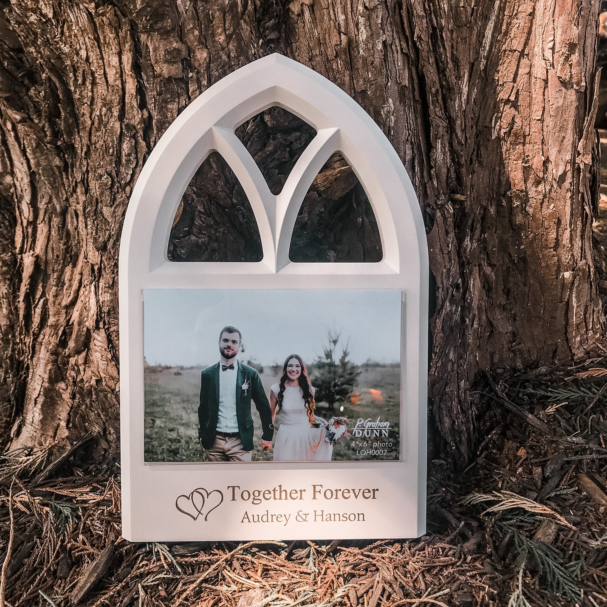 White Window Photo Frame