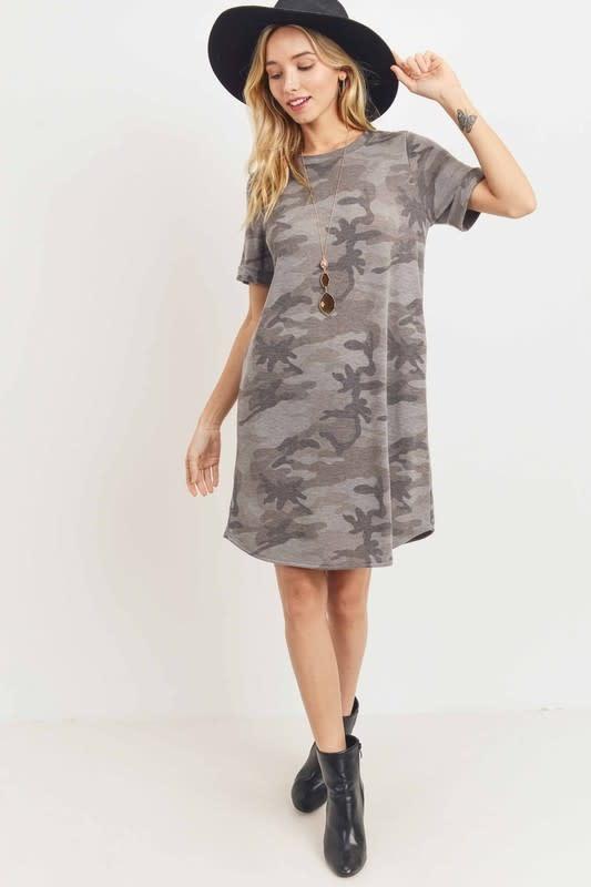 Taylor Camo Midi Dress