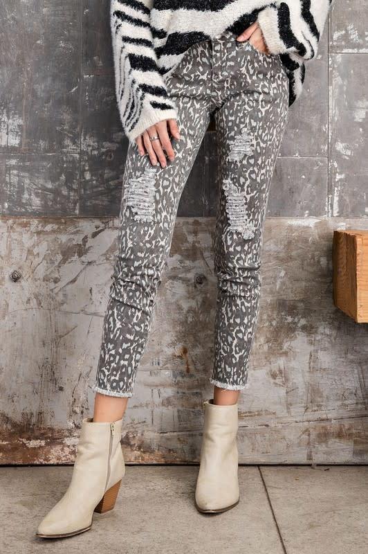 Abbie Distressed Leopard Jeans