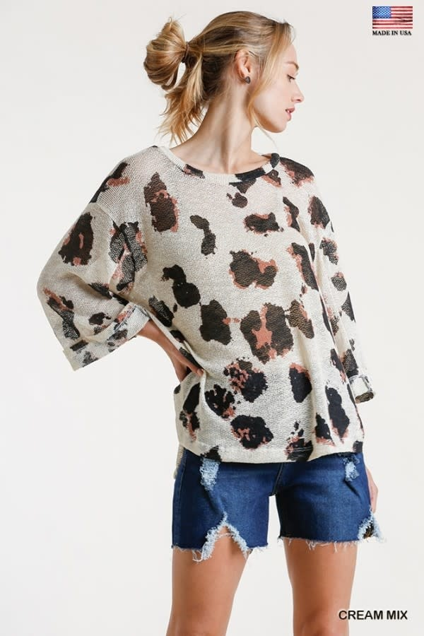 Kasey Knitted Leopard Top