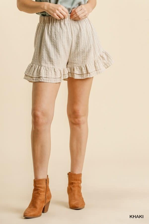 Lexi Linen Ruffle Shorts