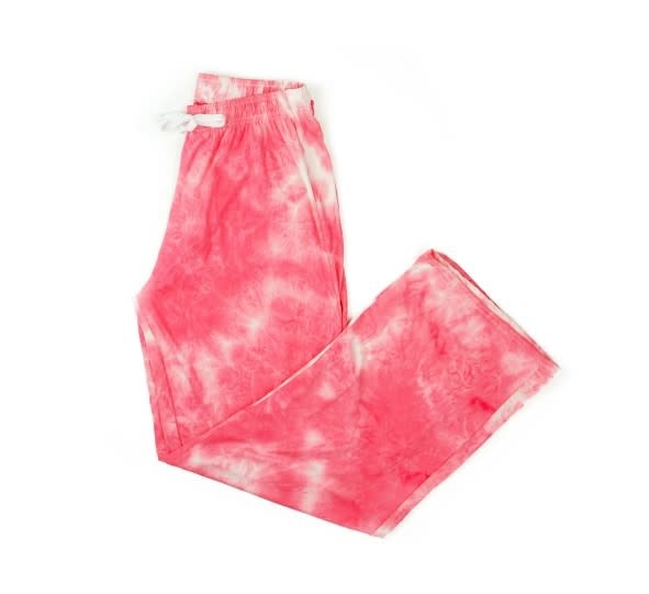 Hello Mello Coral Tie Dye Lounge Pants