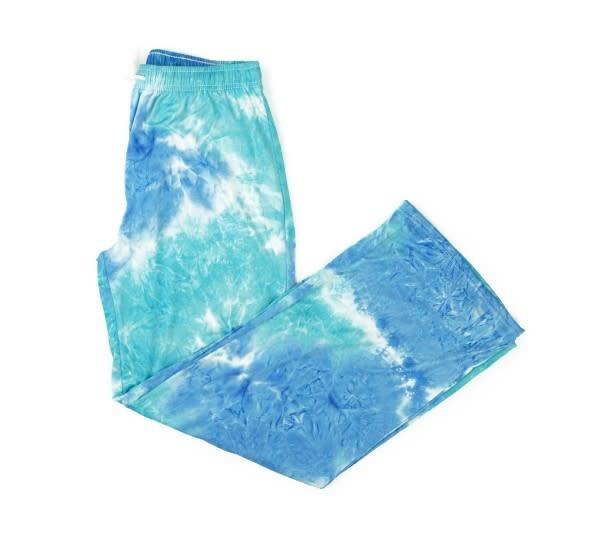HELLO MELLO Aqua Tie Dye Lounge Pants