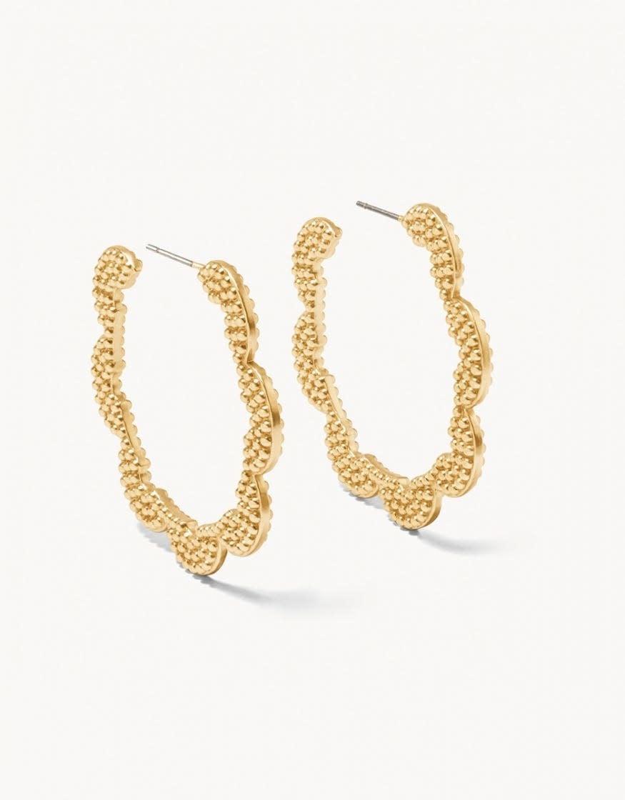 Sweet & Sour Gold Hoop Earring