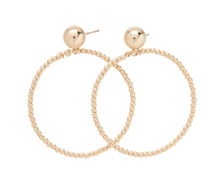 Classic Beaded Halo Earring