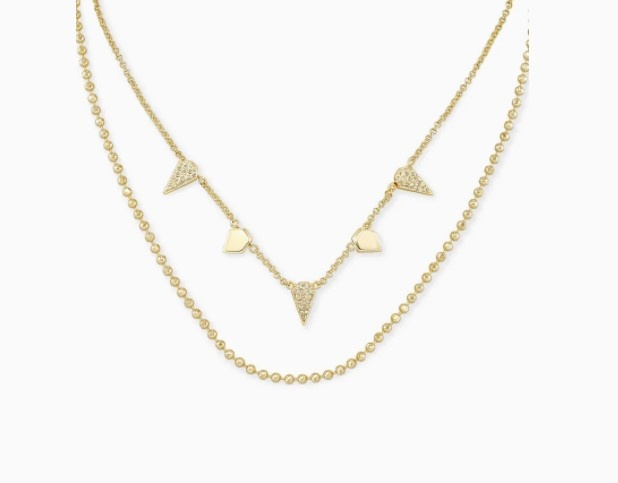 Demi Gold Multi-Strand Necklace