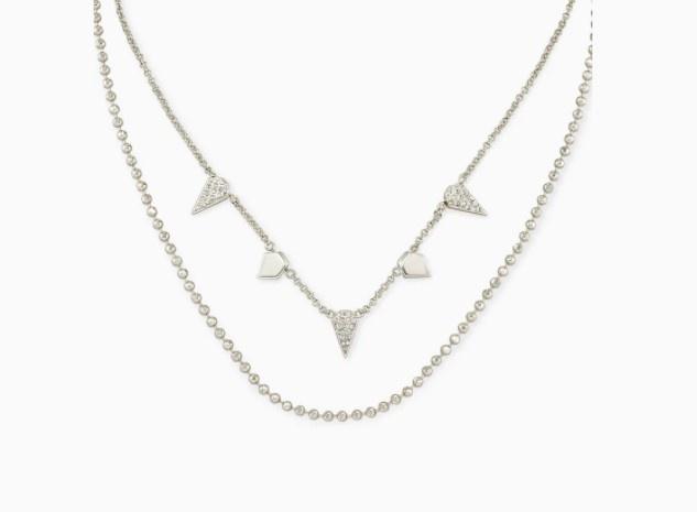Demi Silver Multi-Strand Necklace