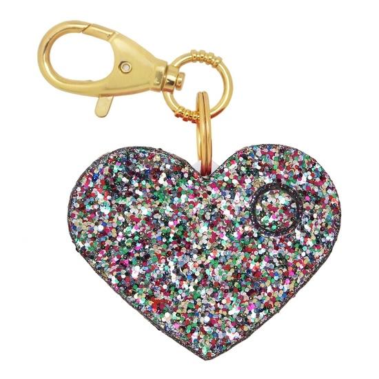 Confetti Glitter Heart Personal Alarm