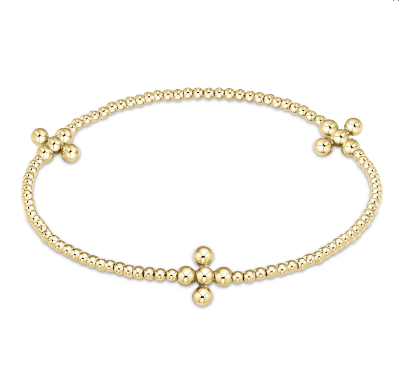 Signature Cross Gold 2mm Bracelet