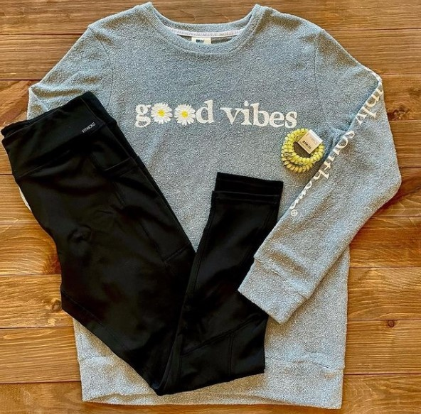 Good Vibes Terry Knit Pullover