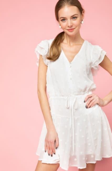 Amelia Swiss Dot Flowy Dress