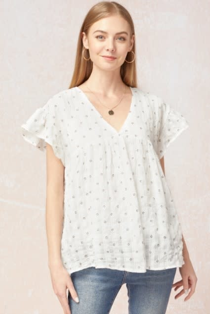 Whitney Floral Babydoll Top